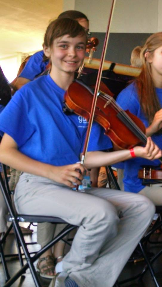 Charity and her beautiful violin
