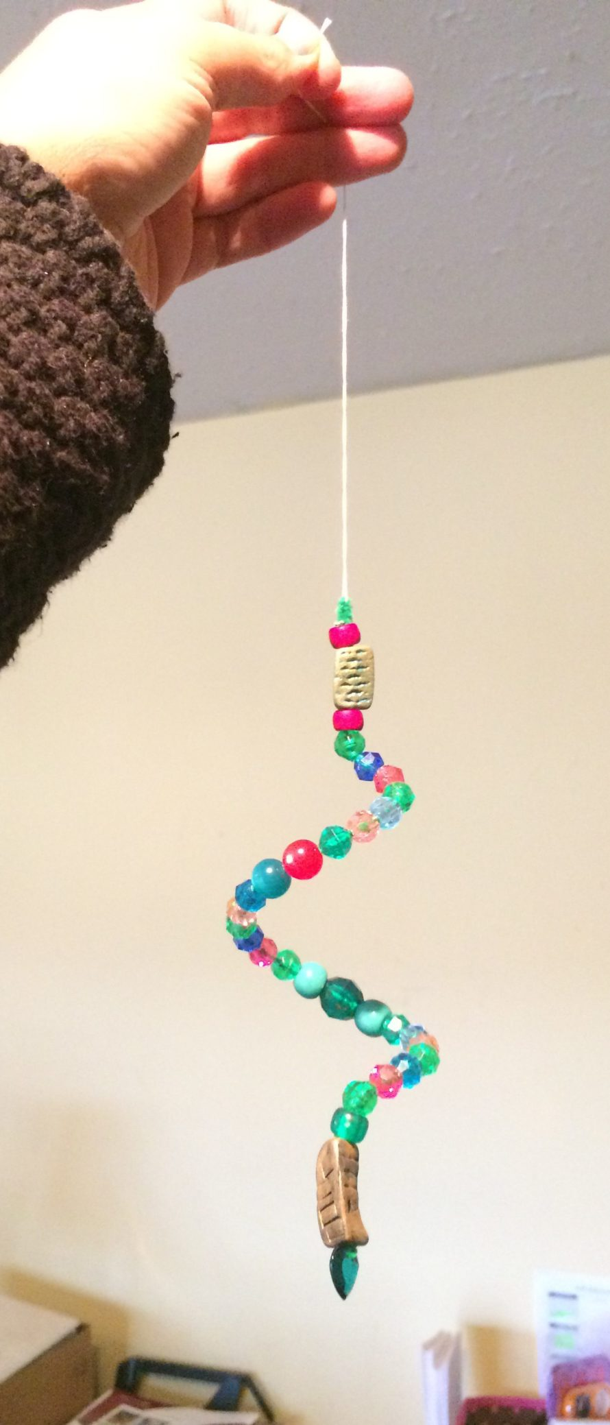Crafts for the elderly in nursing homes -  Craft Just A Thin Pipe Cleaner Translucent Pony Beads Some Odd Beads A Twist And A Thread To Hang It From I Wanted To Sparkle Up Their Rooms
